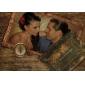 lux clasic invitatie de nunta pliat cu decupaj inima (set de 50)
