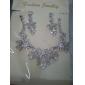 aliaj de superba cu pietre de nunta set de bijuterii, inclusiv colier și cercei