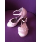 calitate de top satin toc mic superior închis degetele de la picioare fete flori pantofi / culori shoes.more nunta disponibile