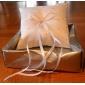 perna de inel stele în satin alb cu ceremonie de nunta stras