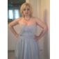 Linia -A Prințesă Fără Bretele In Formă de Inimă Lungime Tea Șifon Rochie Domnișoară Onoare cu Drapat Ruching de LAN TING BRIDE®