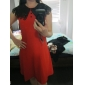 TS două-ton rochie guler (mai multe culori)