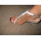 konstläder övre stilettklack sandaler med rhinestone bröllop / fest skor fler färger