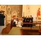 Coloană / Teacă Fără Bretele Lungime Podea Satin Rochie Domnișoară Onoare cu Eșarfă / Panglică de LAN TING BRIDE®