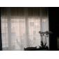 Două Panouri Tratamentul fereastră Modern , Solid Sufragerie Poliester Material Sheer Perdele Shades Pagina de decorare For Fereastră