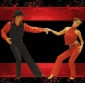Chaussures de danse (Noir/Marron) - Non personnalisable - Talon plat - Satin - Danse latine/Salle de bal