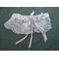 jachetă din poliester dantelă imitație perla panglică accesorii de nunta alb