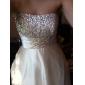 Linia -A Prințesă Fără Bretele Lungime Podea Tulle Satin Stretch Bal Seară Formală Bal Militar Rochie cu Mărgele Ruching de TS Couture®