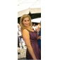 Coloană / Teacă Lungime Genunchi Tafta Rochie Domnișoară Onoare cu Drapat Flori Buzunare de LAN TING BRIDE®