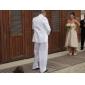 Linia -A In Formă de Inimă Asimetric Dantelă Rochie de mireasă cu Eșarfă / Panglică de LAN TING BRIDE®