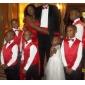 Trompetă / Sirenă Fără Bretele In Formă de Inimă Lungime Podea Satin Rochie Domnișoară Onoare cu Drapat Flori de LAN TING BRIDE®