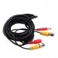 30 mètres (ou 98 pieds) vidéo BNC et alimentation 12V DC câble intégré