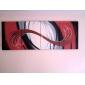 Pictat manual Abstract Patru Panouri Canava Hang-pictate pictură în ulei For Pagina de decorare