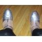 Chaussures de danse (Argent Talon bas - Similicuir/Paillettes scintillantes - Moderne
