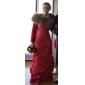 Trompetă / Sirenă Fără Bretele Lungime Podea Tafta Seară Formală Bal Militar Rochie cu Rochie Pick Up Drapat Părți de TS Couture®