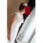 Trompetă / Sirenă Gât V Lungime Podea Șifon Rochie de mireasă cu Ruche de LAN TING BRIDE®