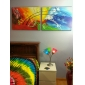 Pictat manual Abstract Două Panouri Canava Hang-pictate pictură în ulei For Pagina de decorare
