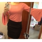 TS fler maneca bluza cămașă (mai multe culori)