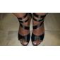Pantofi De Dans Personalizați Cu Trei Bretele Din Satin (Mai Multe Culori)