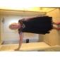 Teacă / coloană lingură gât lungime genunchi sifon rochie de vacanță cu ciorap de ts couture®