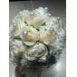 Flori de Nuntă Rotund Trandafiri Buchete Nuntă Petrecere / Seară Mătase Galben