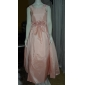 A-line rochie cu bile printesa podea lungime floare fată rochie - taffeta fără mătase pătrat gât de lan ting bride®