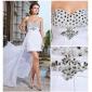 Teacă / coloană rochie de mireasă scurtă / mini asimetrică șifon rochie de seară cu ciorap de ts couture®