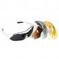 UV400 Solglasögon goggle - cykla för cykel sport - 5 objektiv - vit ram (bc1345061)