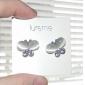 lureme®fashion fluture formă perla& cercei cristal (culori asortate)