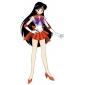 Inspiré par Sailor Moon Sailor Mars Manga Costumes de Cosplay Costumes Cosplay Mosaïque Sans Manches Cache-col Robe Casque Gants Ruban