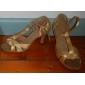 satin t-curea latină / sala de bal pantofi de dans cu catarama (mai multe culori)