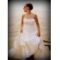 Haine Bal Fără Bretele Trenă Capelă Dantelă Satin Rochie de mireasă cu Aplică Ridicat de LAN TING BRIDE®