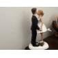 Vârfuri de Tort Cuplu Clasic Rășină Nuntă / Petrecerea Bridal Shower Alb / Negru Temă Clasică Cutie de Cadouri