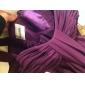 Coloană / Teacă In Formă de Inimă Lungime Podea Șifon Rochie Domnișoară Onoare cu Drapat Ruching de LAN TING BRIDE®