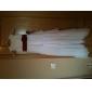 Linia -A Prințesă Bijuterie Lungime Podea Șifon Satin Rochie Junion Domnișoare Onoare cu Arc Flori Eșarfă / Panglică de LAN TING BRIDE®