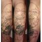 2 damascus handgjorda tatuering kit med LED Power