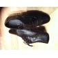 Bărbați Latin Sală Dans Imitație de Piele Oxford Cu Dantelă Toc Îndesat Negru 4cm Personalizabili