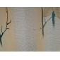 Două Panouri Tratamentul fereastră Țara , Frunză Sufragerie Poliester Material perdele, draperii Pagina de decorare For Fereastră