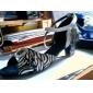personnalisées paillettes scintillantes avec des chaussures d'impression de zèbre de performance de danse