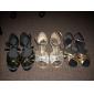 Chaussures de danse(Noir) -Non Personnalisables-Talon Aiguille-Satin-Moderne Salon