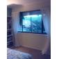 Deux Panneaux Le traitement de fenêtre Moderne , Solide Chambre à coucher Polyester Matériel Rideaux opaques Décoration d'intérieur For