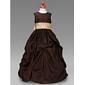 Rochie de bile lungime floare fata rochie - taffeta fără buzunar gât de bijuterii de lan ting bride