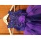 A-line printesa podea lungime floare fată rochie - satin satin fără buzunar gât bijuterie cu beading de lan ting bride®
