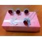 Pentru femei Fete Ștras Aliaj Mov Rosu Albastru Roz Transparent