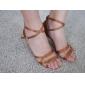 satin superioare peep toe pantofi de dans cu catarama sală de bal pantofi latină pentru femei mai multe culori