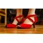roșu de moda tesatura superioare de dans pantofi sală de bal pantofi latină pentru femei