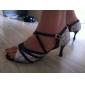 Pantofi Damă Personalizați , Leatherette/Paillette, De Dans Latin