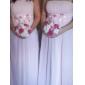 Bridesmaid rochie Lungime până la podea Șifon - Teacă / Coloană Fără bretele