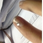 500st 3D Plast Nail Dekorationer