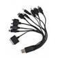 10 in 1 multifunctional USB încărcător / cablu de date universal pentru phone/mp3/mp4/gps mobile